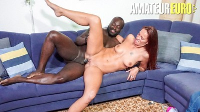 German Mature Woman With Black Man And Very Happy