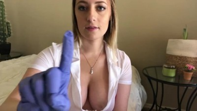 Sexy Beauty ASMR Nurse with Gorgeous Big Tits and Stethoscope