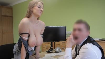 LOAN4K. Seductive Big Breasted Client Fucks with Boss