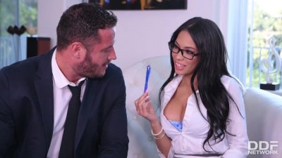 Latina Big Titted Secretary Shay Evans Services her Boss Cock
