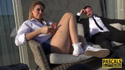 Blonde Brunette Nikky Gets Anally Pounded and Jizzed!! Pascals Subsluts