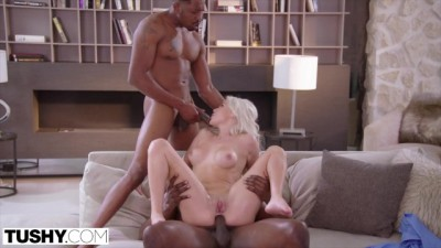 Hot Babe Blonde Elsa Fulfills her Anal Threesome Fantasy
