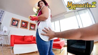 MamacitaZ - Beauty Big Titted Latina Maid Tricked into Hard SEX by Pervy Client