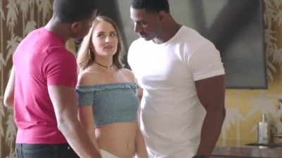 Blonde Chick Wanted Sex With Two Black Men BBC