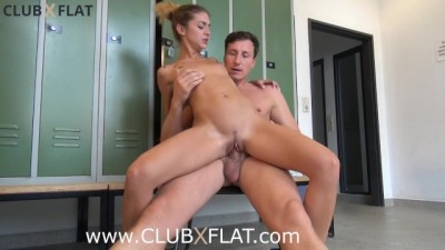 Blonde Have Hot Sex In The Locker Room