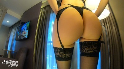 BLACK SEXY LINGERIE CHICK SHOW BODY