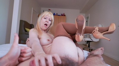Hairy Hottie Girlfriend Fucks Sick Boy back to Health POV