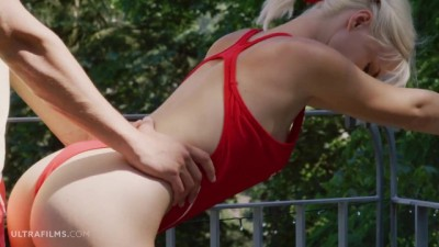 ULTRAFILMS Adorable Blonde Russian Babe Falls in Love with her Fitness Coach