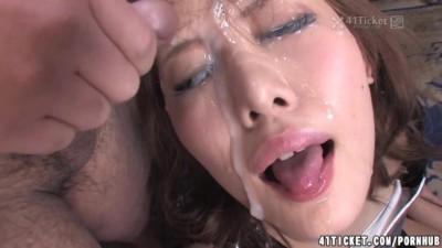 Hikari Tsukino Facial Gangbang (Uncensored JAV)