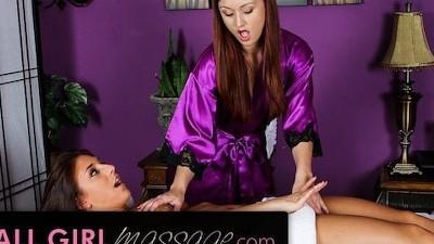 Karlie Montana Massages Mischa Brook's Wet Pussy