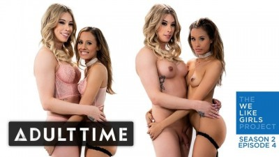 ADULT TIME - One Blonde One Brunette Lesbian