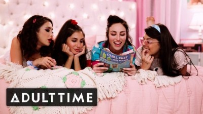 ADULT TIME - GIRLCORE Teen Lesbians just Wanna have a Fun Foursome!