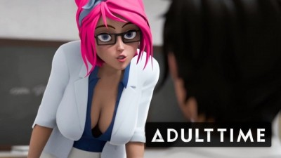 ADULT TIME - Hentai Sex School Hot Teacher Students Fucking