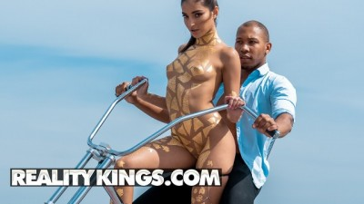 Reality Kings - Sexy Girl Put On Ass Of Black Man's Big Black Cock