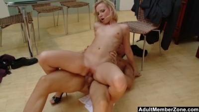 AdultMemberZone - Hot Blonde Sluts Orders a Manwhore to Satisfy her