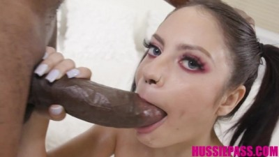 Busty Brunette Melody Foxx Takes a 13inch BBC