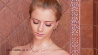 Stunning Blonde Takes Sexy Shower in Full HD