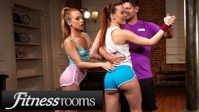 Fitness Rooms Alecia Fox and Redhead Charlie Red Share Big Hard Dick
