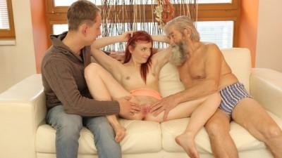DADDY4K. Experienced old Gentleman Seduces Teen Redhead Immediately