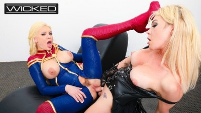 WickedPictures - Captain Marvel Fucked by Supreme Intelligence Aubrey Kate