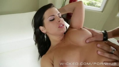 Wicked - Brunette Sexy Maid Girl Cleans Big Cock
