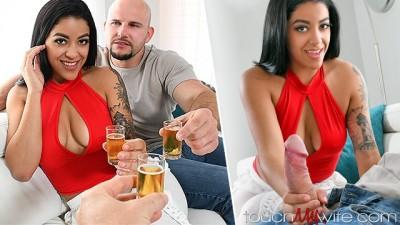 Sharing my Hot Big Tits Slut Wife with Barman