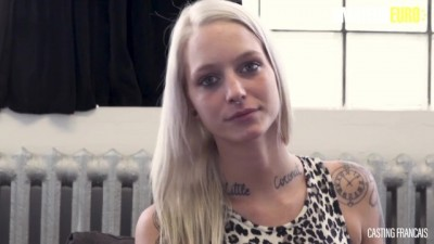Slutty French Blondie Rides a Huge Cock on the Casting Couch
