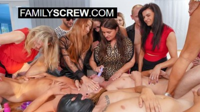 Kinky Family Discovers Strapon Huge Group Sex