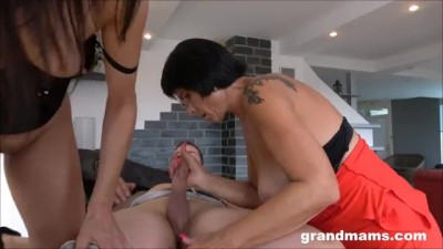 Horny Mature and old Granny Share Big Dick