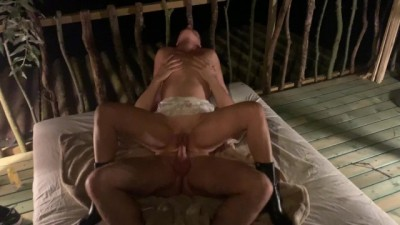 Best Friend Fucks Mature Wife in Treehouse in Front off Husband