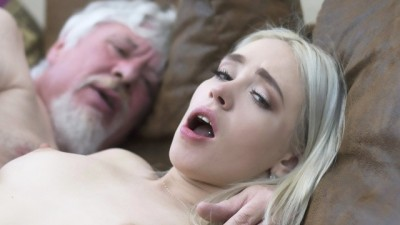 College student girl gets with the old man