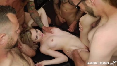 Petite Tiny Lexi Lore Gets Gangbanged And Given 9 Loads