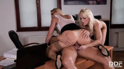 Horny Milf Threesome At Police Department