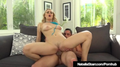 Busty Star Natalia Starr Drenched with Blaster Big Cock