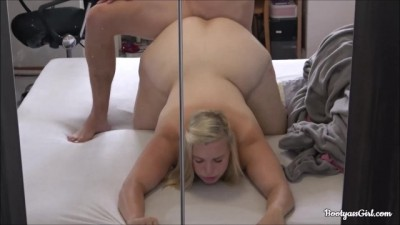 Big ass of blond girl