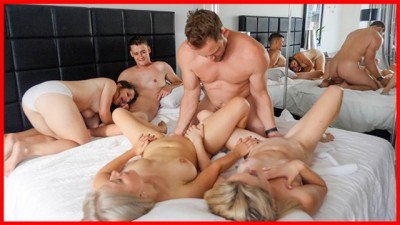 Bisexual Group Sex with Double Squirt