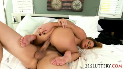 Horny Blondie Babes Hardcore With Foot Fetish
