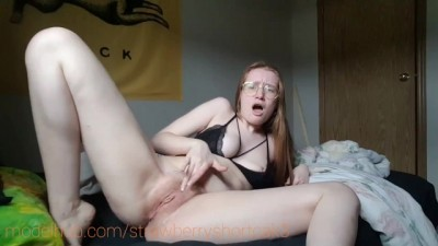 Red Head Girl First Time Panty Stuffing