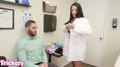 Horny Doctor Angela White fucks the wrong patient