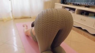[中文vlog]撕开瑜伽裤锻炼小穴