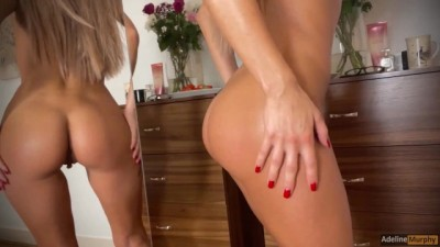 A Morning in Adeline Murphy's Life. she Shows her Perfect Body and Masturbates in Front of a Mirror
