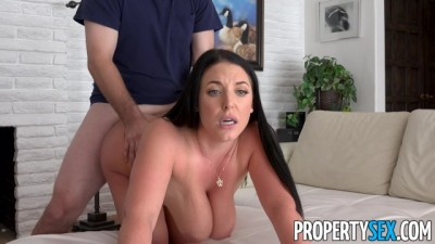 Horny Busty real estate agent Angela White hungry for big cock