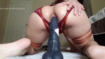 Bad Dragon Horse Cock Fucking My Big Hot Ass