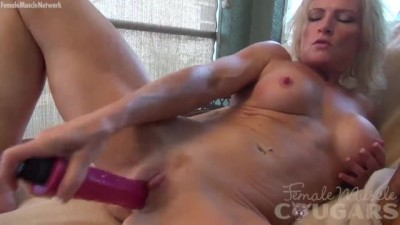 Mature Blonde Fitness Masturbates with her Dildo and Hard Nipples