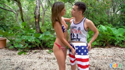 YNGR - Horny couple picnic sex