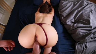 Sleeping Teen Stepsister Wakes Up to a Hard Cock pornborne
