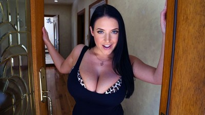 Busty real estate agent Sexy Angela White hungry for cock