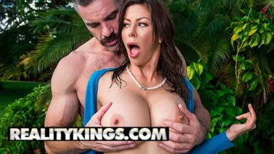 Busty Milf Alexis Fawx fucks the Garden with big dick