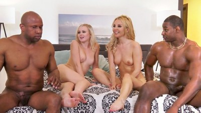 Hot Aaliyah Love & Natalia Queen Interracial Foursome Rough Sex
