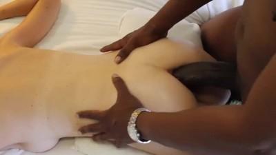 Skinny blonde petite ınterracial anal sex